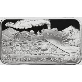 1 oz .999 Silver V&T Railway Dayton Train Ingot