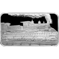 1 oz .999 Silver V&T Railway Genoa Train Ingot