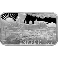 1 oz .999 Silver V&T Railway Empire Ingot