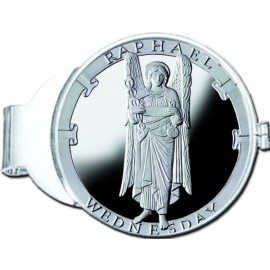 Raphael/Wednesday Silver Medallion Money Clip