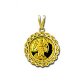 Michael/Sunday 1/20 oz Gold Medallion Pendant