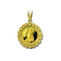 Gabriel/Monday 1/20 oz Gold Medallion Pendant