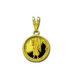 Sachiel/Thursday 1/20 oz Gold Medallion Pendant