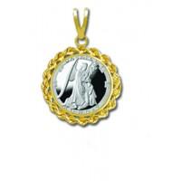 Gabriel/Monday 1/20 oz Silver Medallion Pendant