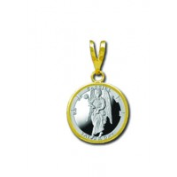 Cassiel/Saturday 1/20 oz Silver Medallion Pendant