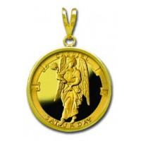 Cassiel/Saturday 1/4 oz Gold Medallion Pendant