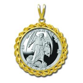 Michael/Sunday 1/4 oz Silver Medallion Pendant