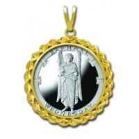 Raphael/Wednesday 1/4 oz Silver Medallion Pendant