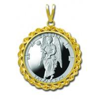 Cassiel/Saturday 1/4 oz Silver Medallion Pendant