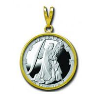 Gabriel/Monday 1/4 oz Silver Medallion Pendant