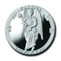 Cassiel/Saturday 1/4 oz Silver Pocket Angels Medallion