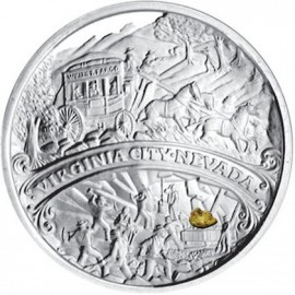 1 oz .999 Silver Comstock Medallion w/ Nugget