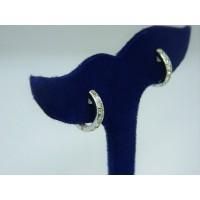 E1069 ~ 18k 1.28 cttw Diamond Hoop Earrings