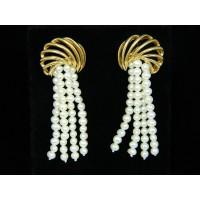 E558 ~ 14k Vintage Pearl Earrings