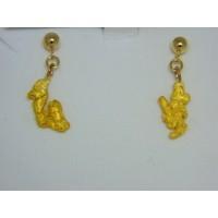 ENUG292 ~ Gold Nugget Earrings