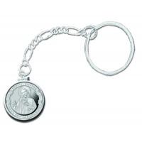 Love Thy Neighbor 1/4 oz Silver Medallion Key Chain