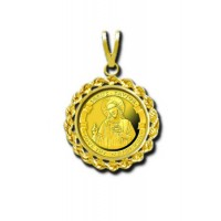 Love Thy Neighbor 1/20 oz Gold Medallion Pendant