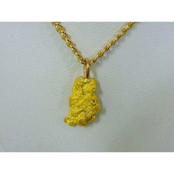 Pnug680 gold nugget pendant aloadofball Images