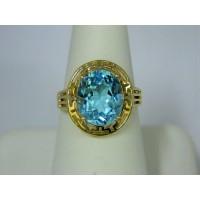 R310 ~ 10k Blue Topaz Ring