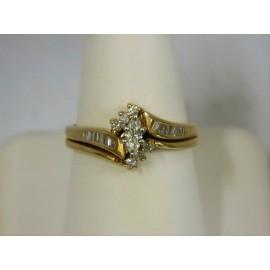 R462 ~ 14k Marquise Diamond Ring Set