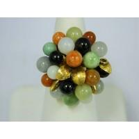 R553 ~ 14k Gold Jade Ring