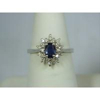 R543 ~ 14k Sapphire & Diamond Ring