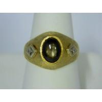 R678 ~ 14k Star Sapphire Florentine Ring