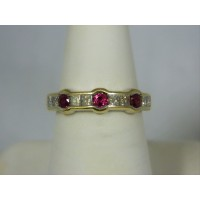 R668 ~ 18k Ruby & Diamond Ring