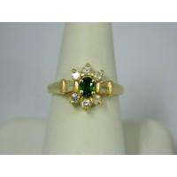 R690 ~ 14k Tsavorite Garnet & Diamond Ring