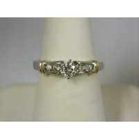 R855 ~ 14k .55 ct Diamond Two Tone Ring