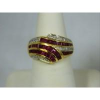 R950 ~ 18k Ruby & Diamond Ring