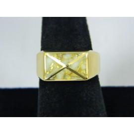 RG1657 ~ 14k Gold & Quartz Ring