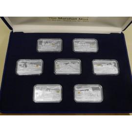 7-1 oz .999 Silver w/ Nuggets V&T Railway Train Ingot Series