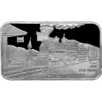 1 oz .999 Silver V&T Railway Columbus Train Ingot