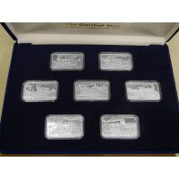 7-1 oz .999 Silver V&T Railway Train Ingot Series