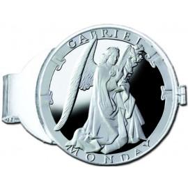 Gabriel/Monday Silver Medallion Money Clip