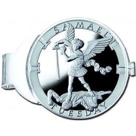 Samael/Tuesday Silver Medallion Money Clip