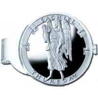 Sachiel/Thursday Silver Medallion Money Clip