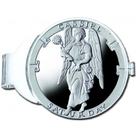 Cassiel/Saturday Silver Medallion Money Clip