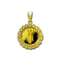 Raphael/Wednesday 1/20 oz Gold Medallion Pendant