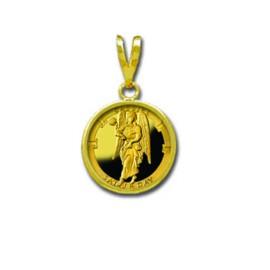 Cassiel/Saturday 1/20 oz Gold Medallion Pendant
