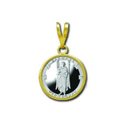 Raphael/Wednesday 1/20 oz Silver Medallion Pendant