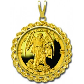 Michael/Sunday 1/4 oz Gold Medallion Pendant