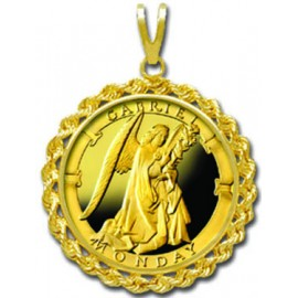 Gabriel/Monday 1/4 oz Gold Medallion Pendant