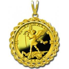 Samael/Tuesday 1/4 oz Gold Medallion Pendant