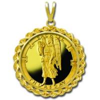 Sachiel/Thursday 1/4 oz Gold Medallion Pendant