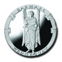 Raphael/Wednesday 1/4 oz Silver Pocket Angels Medallion