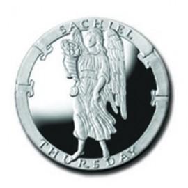 Sachiel/Thursday 1/4 oz Silver Pocket Angels Medallion