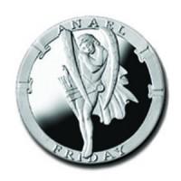 Anael/Friday 1/4 oz Silver Pocket Angels Medallion