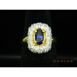R1625 ~ 18k Sapphire & Diamond Ring